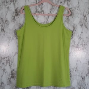 NWT Maurices Lime Green Scoop Neck Tank Top 1X C52